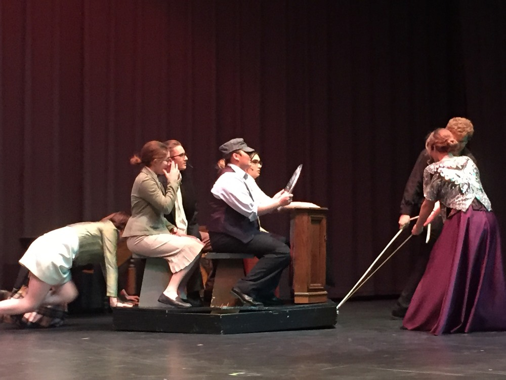 "Schoolcraft Drama Club Revels in Mystery ""The 39 Steps"""