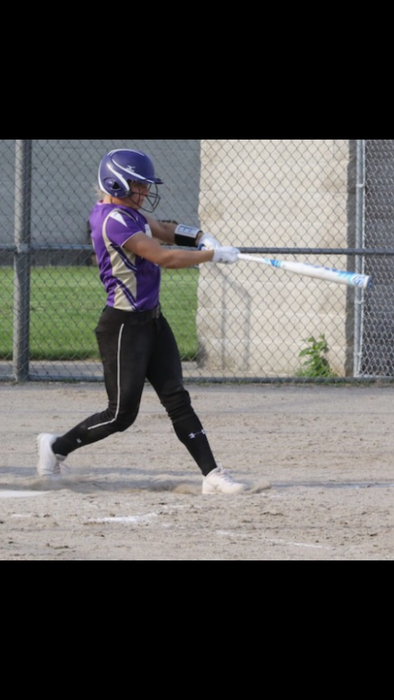 Lydia Goble at the plate