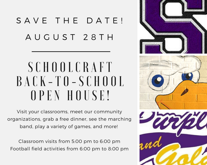 SCS Save The Date - August 28th, 5:00-8:00 pm.