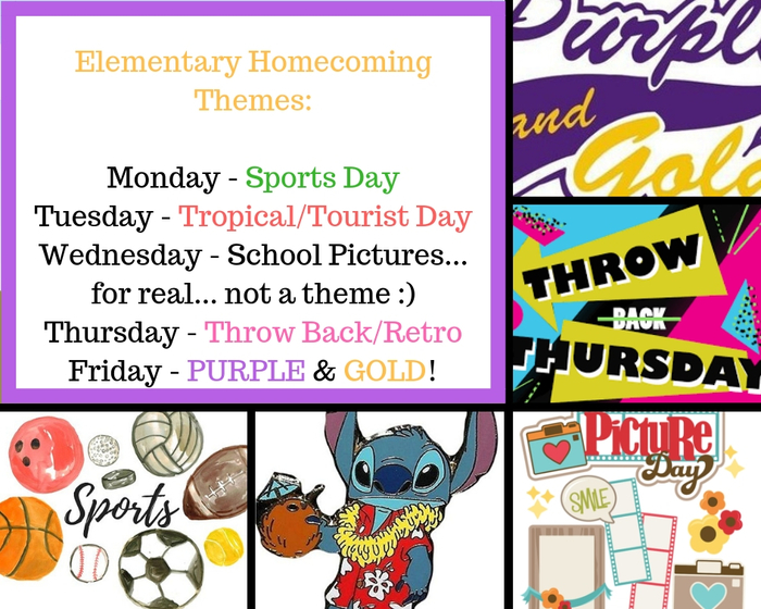Elementary Homecoming Themes!