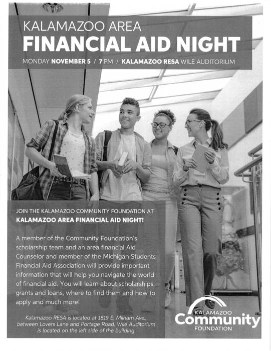 Kalamazoo Area Financial Aid Night