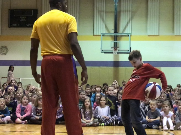 Harlem Wizards assembly at the Elem on 11/29/2018