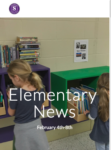 Elementary News photo for Feb 8th