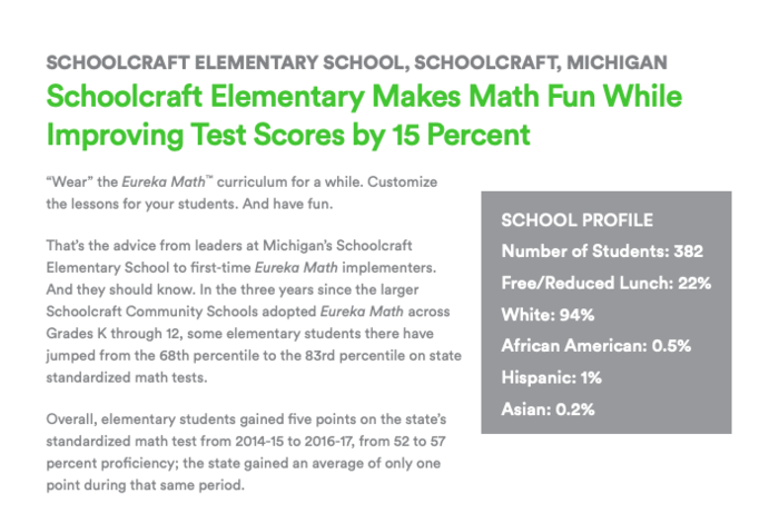 Eureka Math Article - Schoolcraft Community Schools