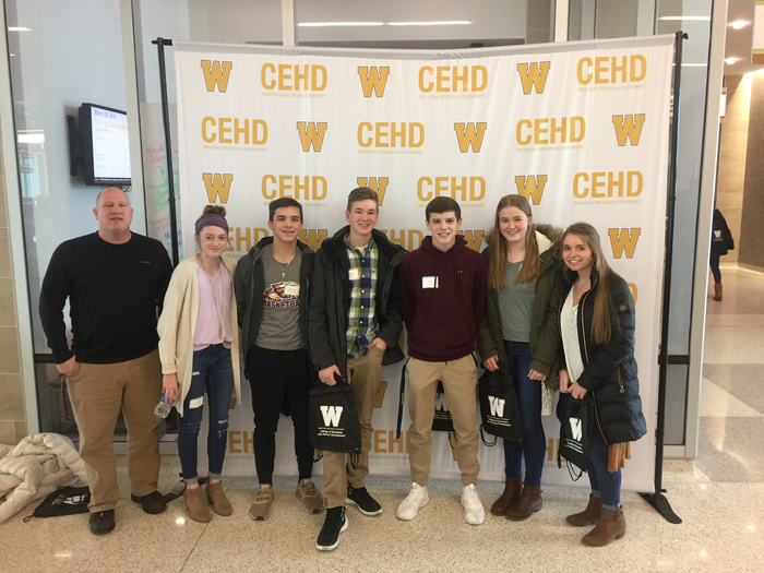 Schoolcraft High School students at the SAC Leadership Summit.