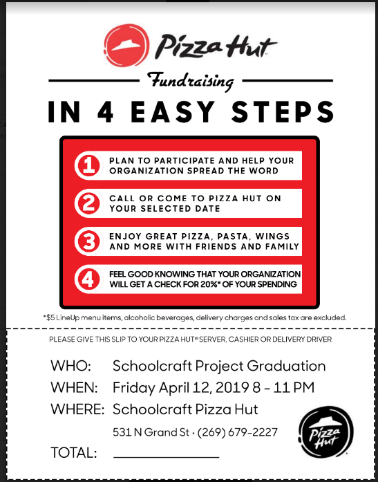 Project Graduation Pizza Hut Fundraiser