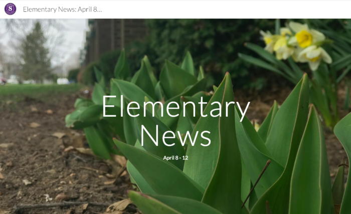 April 12th Elementary News Letter