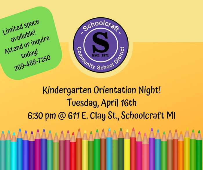 Kindergarten Orientation Night - 4/16
