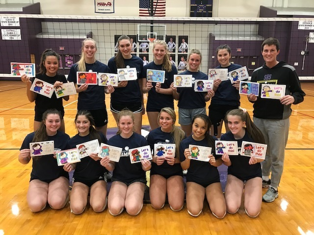 Good luck letters to the Girls Volleyball team!