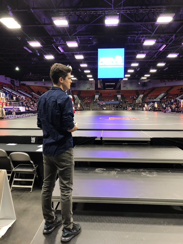 Karson Leighton MHSAA Team Wrestling National Anthem 3 2/28/2020
