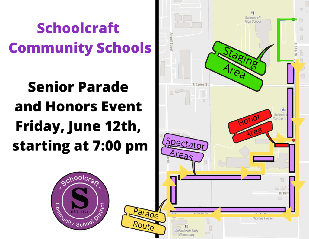 Car Parade Route: SHS Class of 2020 - June 12, 2020
