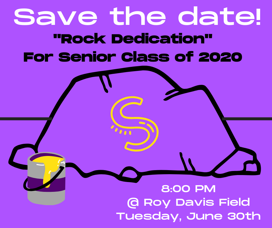 Rock Dedication SHS Class of 2020: June 30, 2020
